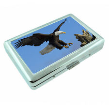 Scenic Alaska D2 Silver Metal Cigarette Case RFID Protection Wallet Bald Eagle