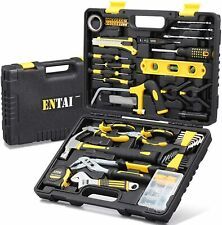 ENTAI 218-Piece Tool Kit for Home, Household Hand Tool Set with Solid Carrying T
