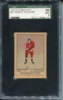 1951 Parkhurst Hockey #67 Robert Goldham Rookie Card RC Graded SGC Mint 9 96