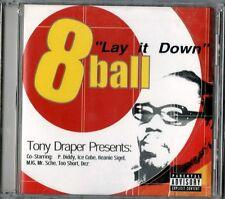 8 BALL - LAY IT DOWN - EIGHTBALL CD  NUOVO SIGILLATO P.DIDDY ICE CUBE
