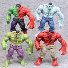 4pcs Set Hulk Compound Red Grey Green PVC Action Figure Model Toy 12cm Kids Gift