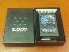 Retired Design Zippo Lighter Graveyard Zombie Black Matte Finish USA Made