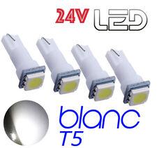 4 ampoules LED T5 w1.2w Blanc 24V 24 V éclairage Truck Camion Man Renault Volvo