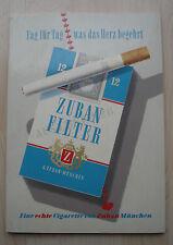 Zuban Filter Zigaretten Reklameschild Werbung Original