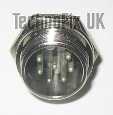 7 pin microphone connector locking chassis panel socket mike (GX16-7)