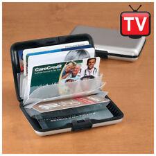 Portafoglio divisori con nero alluminio porta carte di credito, banconote Nuovog