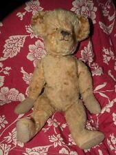 "ANTIQUE GOLD  PLUSH JOINTED MOHAIR BEAR 17"" TALL"