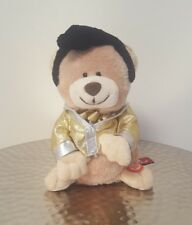 """PREFERRED PLUSH SQUEEZERS ELVIS PRESLEY MUSICAL BEAR PLAYS """"DON'T BE CRUEL"""""""