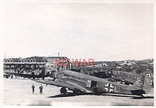 WWII GERMAN WAR PHOTO LUFTWAFFE AIRPLANES ON AIRDROME  =1
