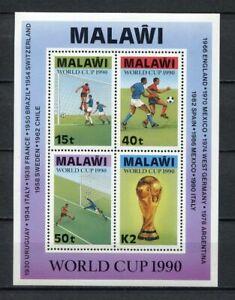 s6411) MALAWI 1990 MNH** WC Football'90 - CM Calcio s/s
