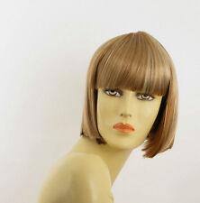 Perruque femme courte blond foncé méché blond clair ELISA F27613
