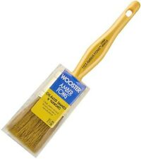 """Wooster 1.5"""" Flat Amber Fong Paint Brush Natural China Bristle Oil Paint Stain"""