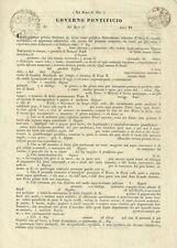 Governo Pontificio Bologna - Prestito di Romani Scudi - Modello Intonso 1830 c.a
