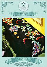 Vintage Crochet pattern-How to make vintage crochet flowers-liies etc