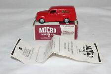Micro Models #WA-1 GM F.J. Holden Van, Watsonia, Plastic, Outstanding, Boxed