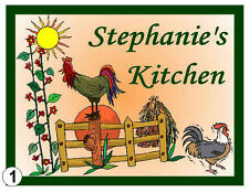 PERSONALIZED ROOSTER KITCHEN MAGNET