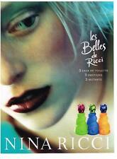 PUBLICITE ADVERTISING  2000    NINA RICCI     LES BELLES boutique parfum