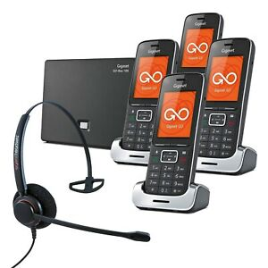 Gigaset SL450A GO QUAD VoIP Cordless Phones with Corded Headset DECT Home Phone