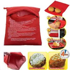 New Multifunction Microwave Cooker Potato Bag 4 Minutes Fast Reusable Washable