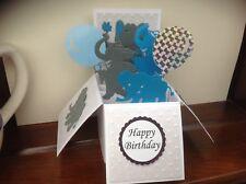 Handmade Elephant  themed birthday pop up card