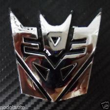 Car Decepticon Transformers Chrome Trunk  Emblem Badge Sticker