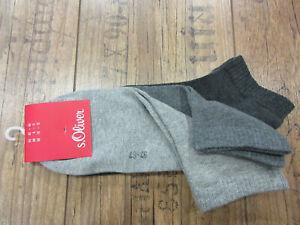 s.Oliver Sneaker Socken,3 Paar,halbhoher Schaft,35-38,39-42,43-46,47-49 TOPPREIS