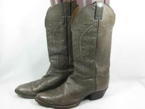 Justin Western Cowboy Boot Men size 10.5 D Leather