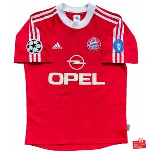 Authentic Vintage Adidas Bayern Munich 2001/02 CL Home Jersey. Size S, Exc Cond.