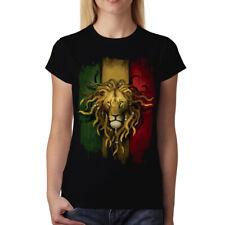 Rasta Lion Women T-shirt S-3XL New