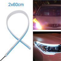 2X Sequential LED Strip Turn Signal Switchback Indicator Daytime Running Light