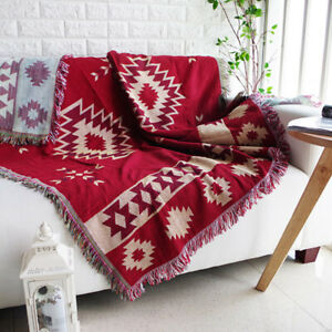 Red Sofa Throw Blanket Rugs Warm Thicken Ethnic Tribal Wall Hanging Tapestry NEW