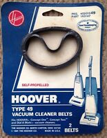 (2) HOOVER DIAL-A-MATIC CONCEPT VACUUM CLEANER BELT BELTS, TYPE 49, 160147