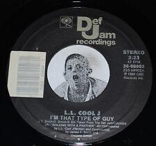 LL Cool J I'm That Type Of Guy b/w It Gets No Rougher Old School Rap 45 Def Jam