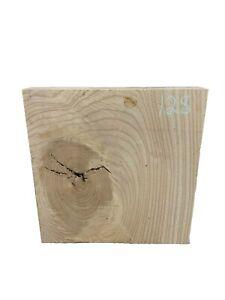 "White Ash Turning Wood Blank/Bowl/ Wood Blocks 12"" x 12"" x 1-3/4"" , #128"