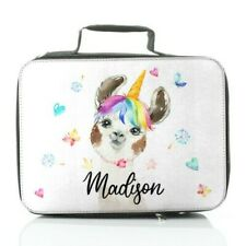 Personalised Lunch Bag Customise with Name, Animal Print Dinosaur/Cow/Llama/Pig