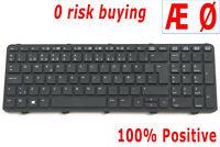 For HP ProBook 450 470 G0 G1 G2 455 G1 455 G2 Tastatur Keyboard Danish Dansk DK
