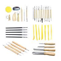 40 Stück Keramik Ton Sculpting Werkzeuge Set Polymer Clay Edelstahl Holz DIY DE