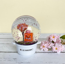 LE CREUSET 2020 Sakura Cherry Blossoms Snow Globe New Limited FS