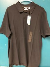 Calvin Klein Polo Shirt Pima Cotton Dark Blue Men's  Lg NWT $54.50