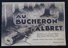 Ancien catalogue AU BUCHERON D'ALBRET Bordeaux armoire lit meuble