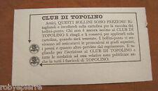 Punti del club di Topolino da 3 punti tagliando dimensioni ritaglio 12,5 x 7 cm