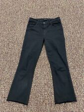 Women's J BRAND Black Mid Rise Bell Bottom Cropped Jeans Pants. Size 27