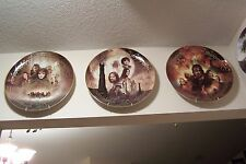 "THE LORD OF THE RINGS ALL 3 DANBURY MINT LARGE 12"" PORCELAIN PLATES W/COAS MINT"