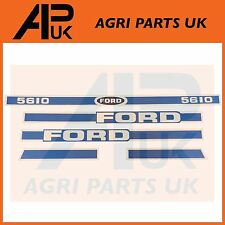 Ford New Holland 5610 Tractor Hood Bonnet Decal Sticker Set Kit Emblem Transfer