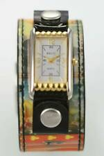 Relic Fossil Watch Unisex Stainless Gold Silver Hologram Gambling Leather Quartz