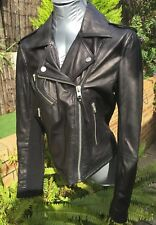 BNWT Superdry Soft Leather Lux Biker Jacket size L - Stunning!! RRP$549.95