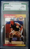 1989 Donruss AGS 10 Gem Mint Craig Biggio Hall Of Fame Rookie Baseball Card