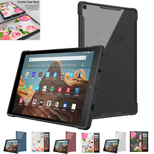 MoKo Transparent TPU Shockproof Hard PC Back Cover Case for Fire HD 10 2019/2017