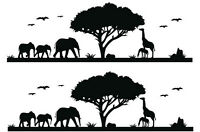 Africa Skyline Silhouette Cake Topper (2)  A4 Edible Printed Iced Sheet