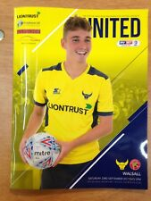 Oxford United v Walsall - league 1 : Played 23rd September 2017 - Mint